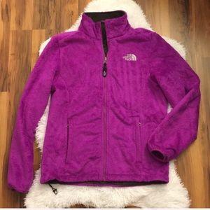 The North Face Full Zip Purple Fuzzy Fleece Jacket